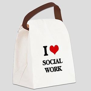 I love Social Work Canvas Lunch Bag