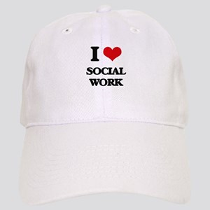 I love Social Work Cap