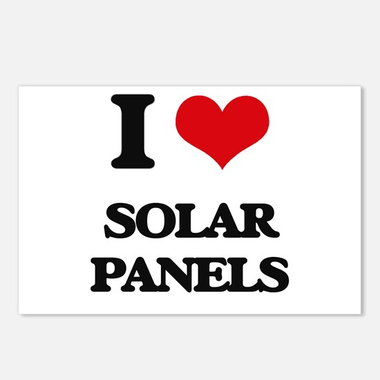 I Love Solar Panels Postcards (Package of 8)