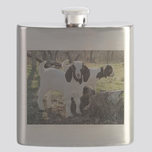 Twin Kids In The Woods Flask