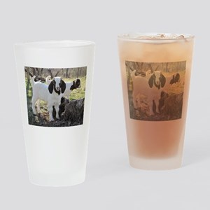 Twin Kids In The Woods Drinking Glass