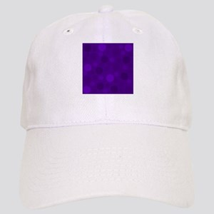 Purple Lavender Dark Light Modern Dots Cap
