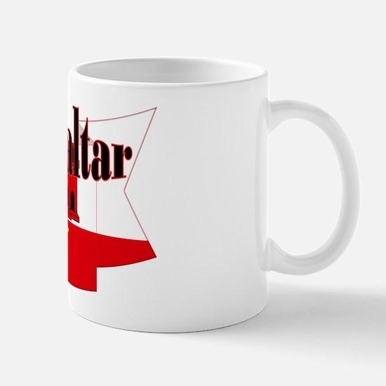 Gibraltar Flag Ribbon Mug Mugs