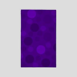 Purple Lavender Dark Light Modern Dots Area Rug