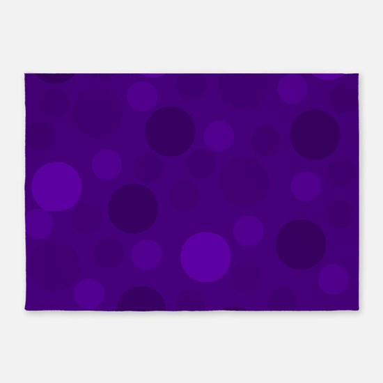 Purple Lavender Dark Light Modern D 5'x7'Area Rug