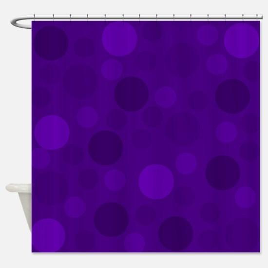 Purple Lavender Dark Light Modern D Shower Curtain