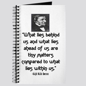 EMERSON - WHAT LIES WITHIN US. Journal
