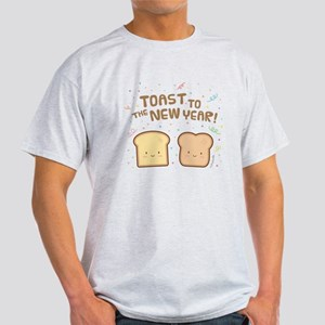Cute Toast to the New Year Pun Humor Confetti T-Sh