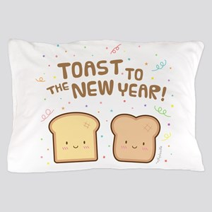 Cute Toast to the New Year Pun Humor Confetti Pill