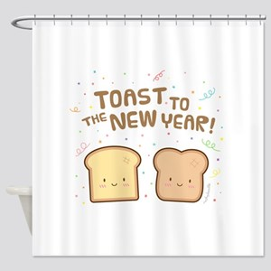 Cute Toast to the New Year Pun Humor Confetti Show