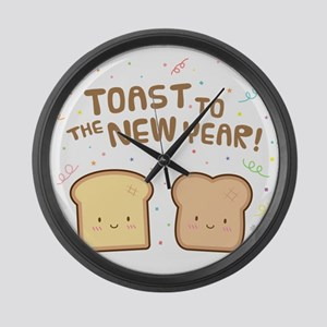 Cute Toast to the New Year Pun Humor Confetti Larg