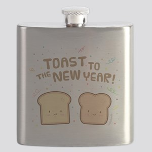 Cute Toast to the New Year Pun Humor Confetti Flas