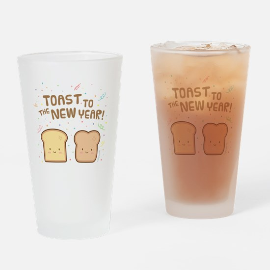 Cute Toast to the New Year Pun Humor Confetti Drin