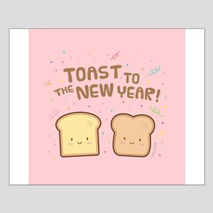Cute Toast to the New Year Pun Humor Confetti Pink
