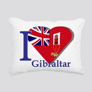 I love Gibraltar CE Rectangular Canvas Pillow
