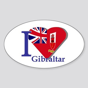 I love Gibraltar CE Sticker (Oval)