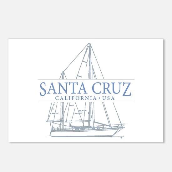 Santa Cruz CA - Postcards (Package of 8)