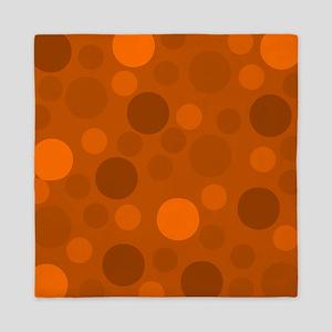 Light Orange Dark and Brown Modern Dot Queen Duvet