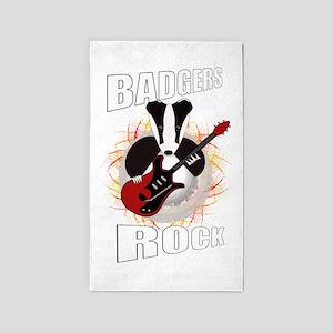 rocking badger Area Rug