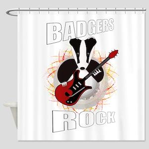 rocking badger Shower Curtain