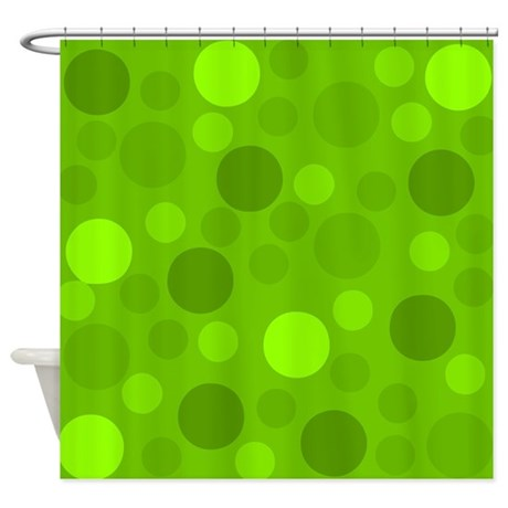 Green Lime Green Light Dark Modern Shower Curtain