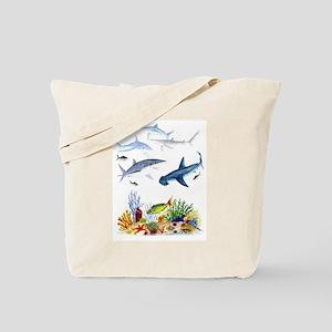 Sharks on Reef Tote Bag