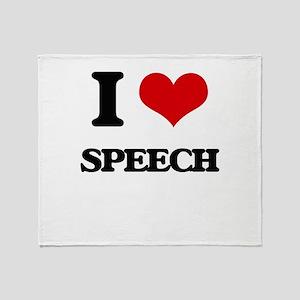 I love Speech Throw Blanket