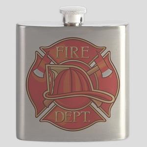 Firefighter Fire Department Flask