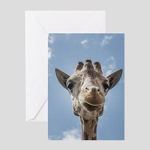Cool Giraffe Greeting Cards