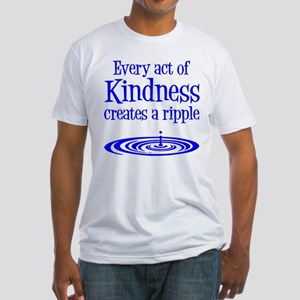 KINDNESS RIPPLE Fitted T-Shirt