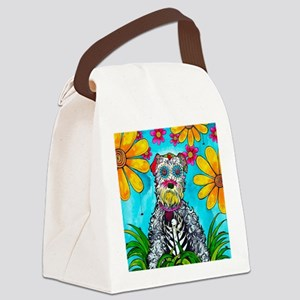Kasey the Schnauzer Canvas Lunch Bag