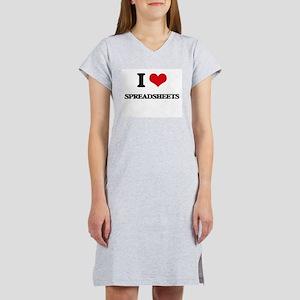 I love Spreadsheets Women's Nightshirt