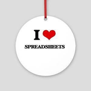 I love Spreadsheets Ornament (Round)