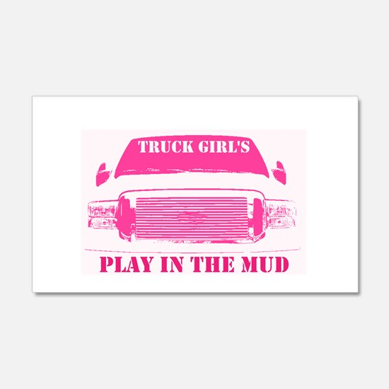 Truck Girls Play In The Mud Wall Decal