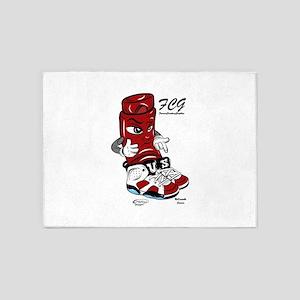 Mr. Shoelock (Carmine 6s) 5'x7'Area Rug