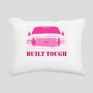Pink Built Tough Rectangular Canvas Pillow