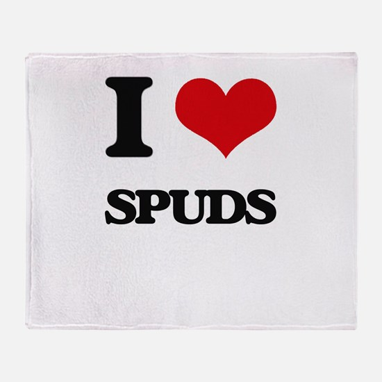I love Spuds Throw Blanket