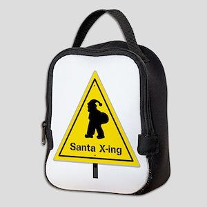 Santa X-ing Neoprene Lunch Bag
