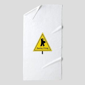 Santa X-ing Beach Towel