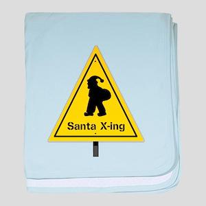 Santa X-ing baby blanket