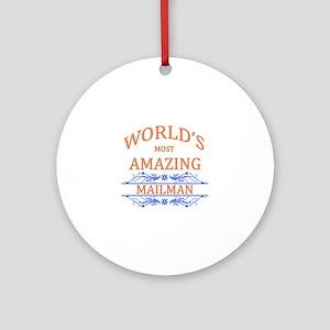 Mailman Ornament (Round)