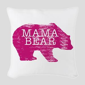 MaMa Bear Woven Throw Pillow