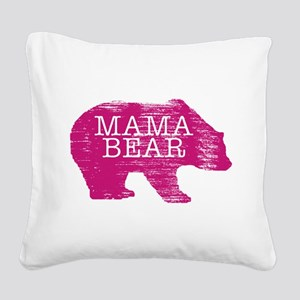 MaMa Bear Square Canvas Pillow