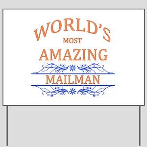 Mailman Yard Sign