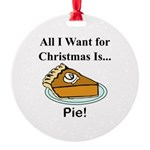 Christmas Pie Round Ornament