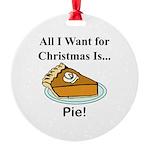 Christmas Pie Round Ornament