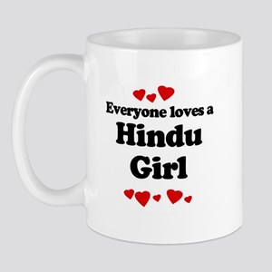 Everyone loves a Hindu girl Mug