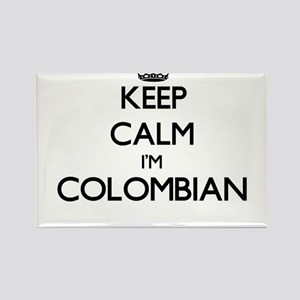 Keep Calm I'm Colombian Magnets