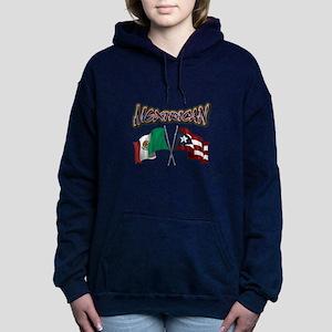 MexiRican Flags centered Women's Hooded Sweatshirt
