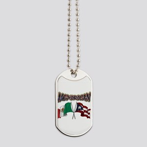 MexiRican Flags centered Dog Tags